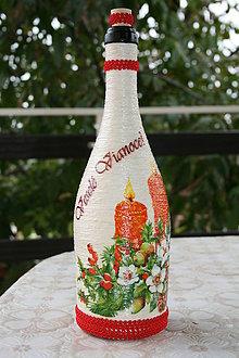 Nádoby - Vianočná fľaša - 4731232_