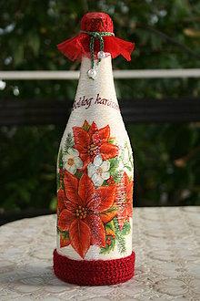 Nádoby - Vianočná flaša - 4731422_