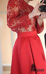 Šaty - Spoločenské šaty z korálkovej krajky rôzne farby - 4732729_