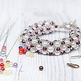 Kurzy - Šité šperky – dutinka náramok - 4734445_