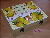 Krabičky - 12 priečinková krabica na čaj  - 4731707_
