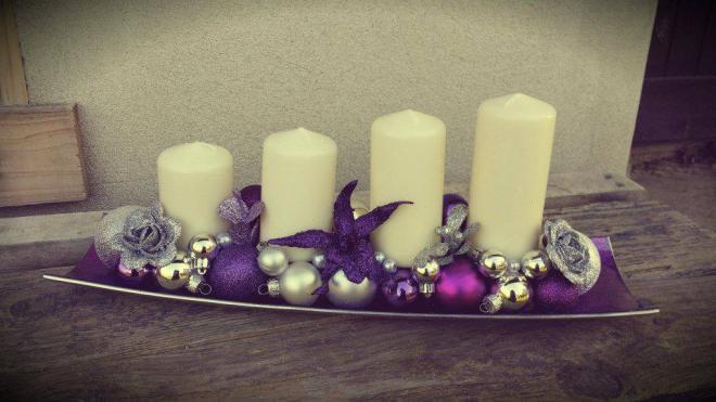 Výroba vianočných svietnikov