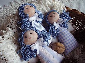Dekorácie - Anjelik modrý - 4737364_