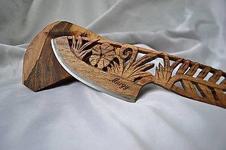 Pomôcky - Záhradka - Drevený nôž - 4741558_
