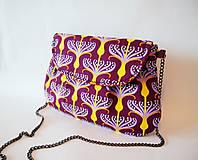 ZĽAVA - fialovo-žltá kabelka s retiazkou