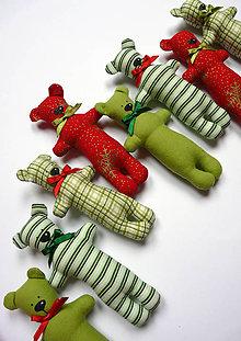 Dekorácie - Vianoční medvedíci - 4738194_