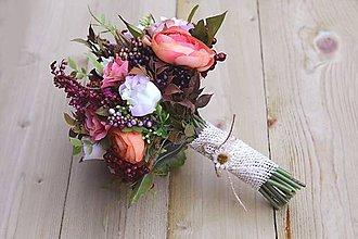Kytice pre nevestu - svadobná jesenná kytica na ukážku - 4737609_