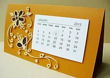 Papiernictvo - kalendár - hnedý - 4738263_