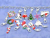 - Vianočný mix príveskov s karabínkou (balíček 10ks) - 4737010_