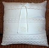 Úžitkový textil - Návliečka na vankúšik - Nežná biela. - 4738003_
