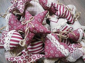 Dekorácie - Vianočné ozdôbky 15 ks - kolekcia bordó - 4737989_
