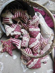 Dekorácie - Vianočné ozdôbky bordó sada 30 ks - 4738013_