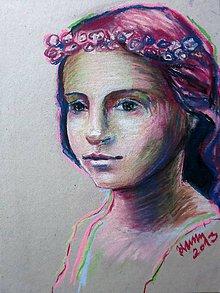 Obrazy - Dievčatko - obraz na stenu, maľba, originál - 4744901_