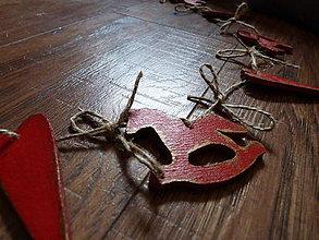 Tabuľky - Vianocna drevena girlanda - 4744920_