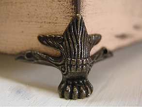 Komponenty - Kovové nohy krabíc-INKA veľké, 4ks/bal - 4745183_