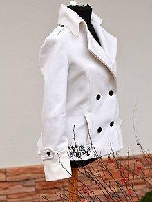 Kabáty - Smotanový kabátik - 4742792_