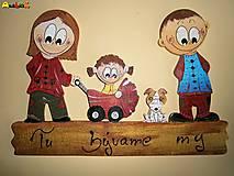 Menovka - rodinka a psík