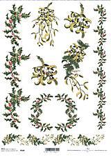 Papier - Ryžový papier Cezmína a imelo 588 - 4746628_