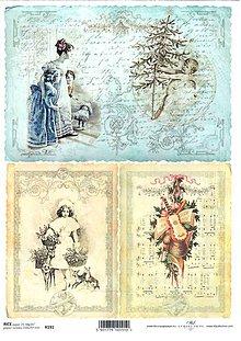 Papier - Ryžový papier 3 staré vianočné 191 - 4746474_