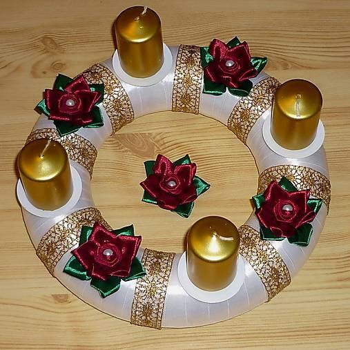 06cf77c0e Adventný veniec saténový / Ewwwelin - SAShE.sk - Handmade Dekorácie