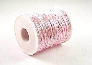 Galantéria - Saténová šnúrka ružová 2mm - 4749951_