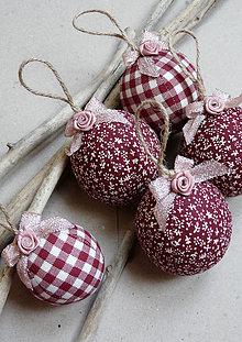 Dekorácie - bordové Vianoce - 4748476_
