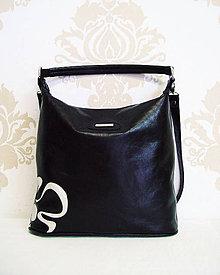 Kabelky - Kožená kabelka Maťka s kvetom \