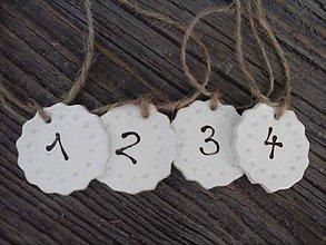 Svietidlá a sviečky - čísla na adventné sviečky II. - 4749187_