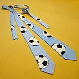 - Fotbalová kravata - světle modrá - 4747749_