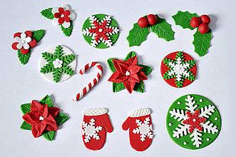 Drobnosti - Vianočný set na muffiny (14 diel. sada) - 4753942_