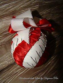 Dekorácie - Vianočná guľa Twist 12 - 4758061_