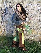 Sukne - lel zelená je tráva -sukňa - 4757382_