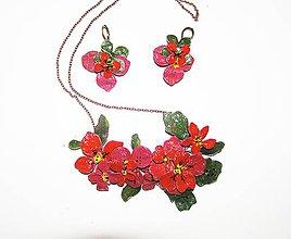 Sady šperkov - LEL šípová ruža náhrdelník a náušnice - 4754402_
