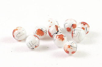 Korálky - Sklenená korálka Pennello mandarine - 4755798_