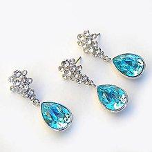 Sady šperkov - Tyrkysové slzičky - 4757197_
