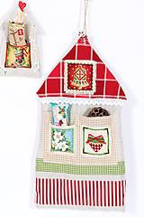 Dekorácie - Farebné vianočné domčeky - 4759271_