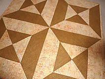 Úžitkový textil - Obrus - Zlatá v hnedej. - 4754441_