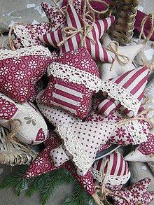 Dekorácie - Vianočné ozdôbky 10 ks - kolekcia bordó - 4754890_
