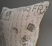Úžitkový textil - vintage paris obliečka 40x40cm - 4763478_