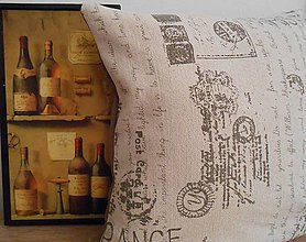 Úžitkový textil - vintage paris veľká obliečka 50x50cm - 4763640_