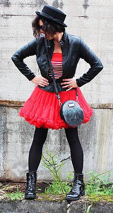 Sukne - FuFu sukně dvouvrstvá červená - 4764296_