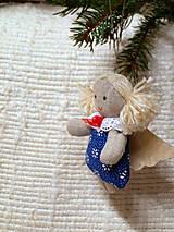 Dekorácie - anjelik -ozdoba na stromček (3) - 4763679_
