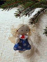 Dekorácie - anjelik -ozdoba na stromček (3) - 4763680_