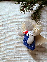 Dekorácie - anjelik -ozdoba na stromček (3) - 4763681_