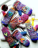 Rukavice - Srdce na dlani  - 4761331_