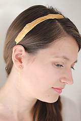 Ozdoby do vlasov - Zlatá čelenka s perím, strieborná čelenka - 4760887_