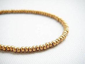 Náramky - TINY jemné náramky zlaté matné - 4759787_