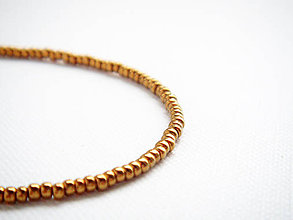 Náramky - TINY jemné náramky zlato bronzové - 4759809_