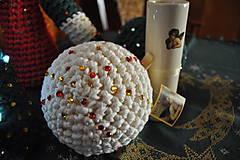Dekorácie - Vianočná guľa maslová - 4759962_
