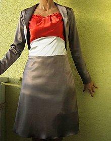 Šaty - AKCIA šatôčky s bolerkom - 4769153_